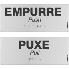 Kit Braille Puxe E Empurre  - Sinalize