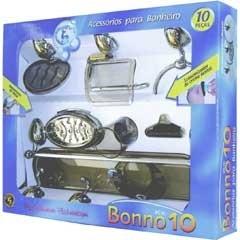 Kit de Acessórios para Banheiro Bonno 10 Peças  - Stamplas