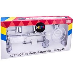 Kit de Acessórios para Banheiro em Cerâmica com 4 Peças Branco E ... 0eb3fb2333d