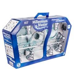 Kit de Acessórios para Banheiro Millennium Master 8 Peças Verde/Cromado - Stamplas