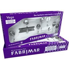 Kit de Acessórios para Banheiro Vega com 5 Peças Cromado - Fabrimar