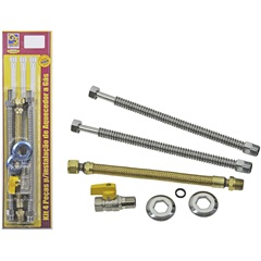 Kit de Instalação para Aquecedor a Gás com 4 Peças 3/4x30cm  - GTRES