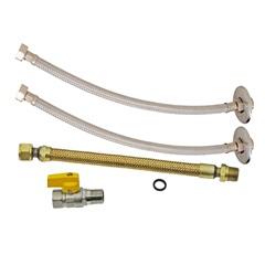 Kit para Aquecedor a Gás 4 Peças Inox 30cm  - GTRES