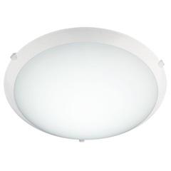 Kit Plafon 25 Cm de Vidro + 1 Lâmpada 15w 220v Ref. Ca725pbn2 - Casanova