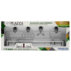 Kit Plazza 6 Peças Metal Cromado - Aquaplás