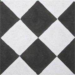 Ladrilho Hidráulico Cubo Preto E Branco 20x20x1,9cm 1 Peça - Cimartex