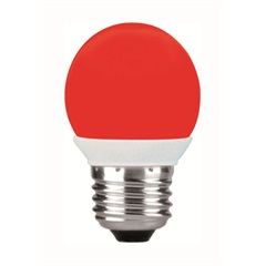 Lâmpada Bolinha Led Vermelha 1w 220v     - Taschibra