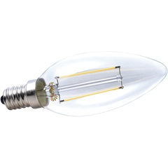 Lâmpada de Led Vela Lisa 2w 220v 2700k   - Brilia Home