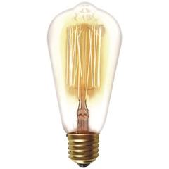 Lâmpada Incandescente com Filamento de Carbono St64 40w 220v 2200k Luz Amarela - Taschibra