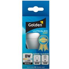 Lâmpada Led Bulbo a60 8w Bivolt 6500k - Golden