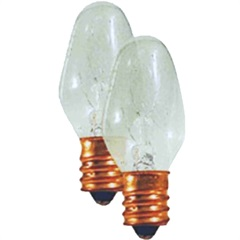 Lâmpada para Luz Noturna 02 Peças Rosca E12 7w 127v Ref. 6901 - DNI