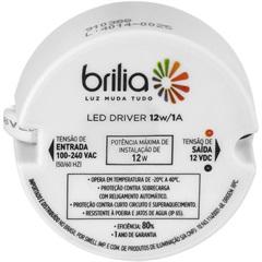 Led Driver 12vdc 1a 12w Bivolt           - Brilia Home