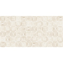 Listelo Primavera Geométrico Hd Off White Retificado  29,1x58,4cm  - Portinari