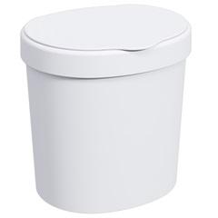 Lixeira 2,5 Litros Branca Ref.: 10906          - Coza