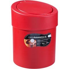 Lixeira Automática 5 Litros Vermelha - Coza