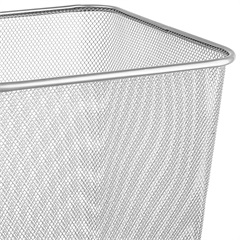 Lixeira de Metal Quadrada Branca 16,5 Litros - Ordene