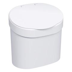 Lixeira de Pia Branca  4 Litros  - Coza