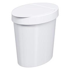 Lixeira Oval 5,0 Litros Branca Ref.: 20931     - Coza