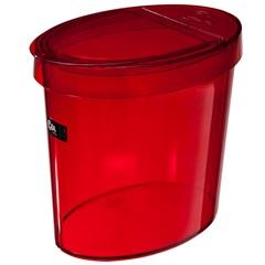 Lixeira Oval 5,0 Litros Vermelha Ref.: 20931       - Coza