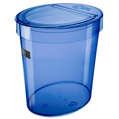 Lixeira Oval Retro Azul 5 Litros  - Coza