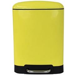 Lixeira Retangular com Pedal 6 Litros Amarela - Casanova