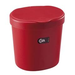 Lixeira Vermelha 2,5 Litros  - Coza