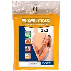 Lona Plástica Amarela 3x2m - Plasitap