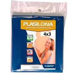 Lona Plástica Azul 4x3m Plasilona - Plasitap