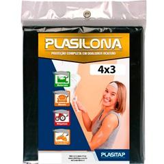 Lona Plástica Preta 4x3m - Plasitap