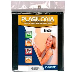 Lona Plástica Preta 6x5m - Plasitap
