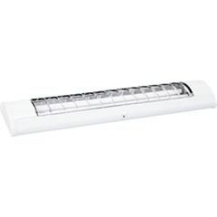Luminária com 2 Lâmpadas Fluorescentes Tubolares 36 W Branca  - Taschibra
