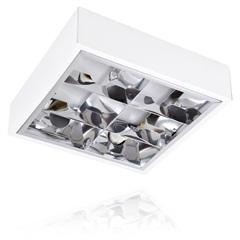 Luminária de Sobrepor para 2 Lâmpadas Quadrada - Blumenau