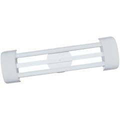 Luminária em Alumínio para 2 Lâmpadas Barcelona Led Tube 65x19cm Branca - Tualux