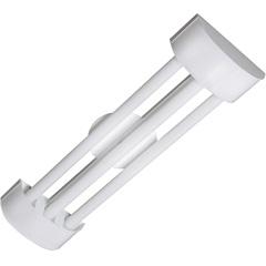 Luminária em Alumínio para 3 Lâmpadas Barcelona Led Tube 126x19cm Branca - Tualux