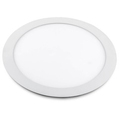 Luminária Painel de Led Redonda de Embutir 12w Bivolt Slim Branca 6500k - Bronzearte