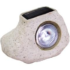 Luminária Solar Balizadora Led Pedra Bege - Key West