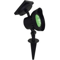 Luminária Spot Decorativa em Abs Solar Superled Luz Verde - Ecoforce