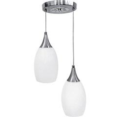 Lustre Pendente em Alumínio 2x60w E27 Td 525/2 Branco - Taschibra