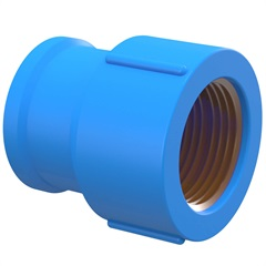 "Luva Azul com Bucha de Latão 20mm X 1/2"" - Tigre"