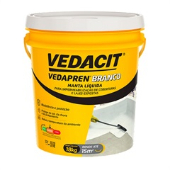Manta Líquida Acrílica Vedapren Branco Balde de 18kg - Vedacit