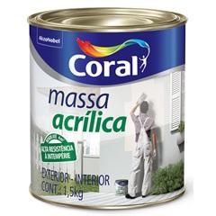 Massa Acrílica Branco 900ml - Coral