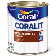 Massa para Madeira Branco Interno 1,5kg - Coral