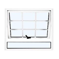 Maxim-Ar 60x120 Branco com Vidro Mini-Boreal Linha Quadriculada - Ebel