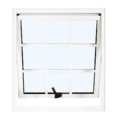 Maxim-Ar 80x60 Branco com Vidro Mini-Boreal Linha Quadriculada - Ebel