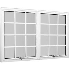 Maxim-Ar de Alumínio com Vidro Mini-Boreal Branco Linha Quadriculada 80x120cm - Ebel