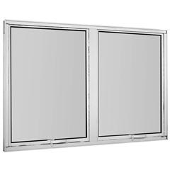 Maxim-Ar Duplo sem Grade em Alumínio Vidro Mini Boreal Una Branco 60x120cm - Casanova