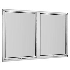 Maxim-Ar Duplo sem Grade em Alumínio Vidro Mini Boreal Una Branco 80x120cm - Casanova