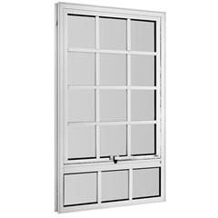 Maxim-Ar Quadriculado sem Grade em Alumínio com Vidro Mini Boreal Branco 100x60cm - Ebel