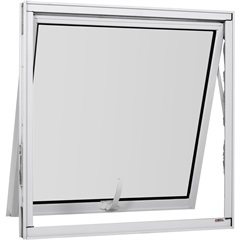 Maxim-Ar Simples de Alumínio sem Grade Vidro Mini Boreal Una Branco 60x60cm