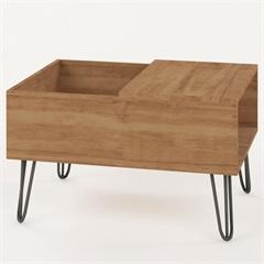 Mesa de Centro com Bandeja em Mdp Iron 46x68cm Buriti  - Líder Design